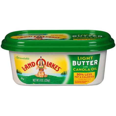 Land O Lakes 174 Spreadable Light W Canola Oil Butter 8 Oz Butter Lights