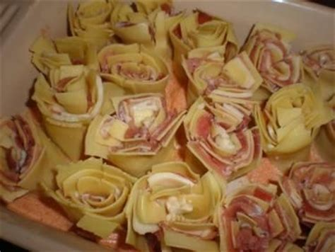 pasta roses and prosciutto on pinterest