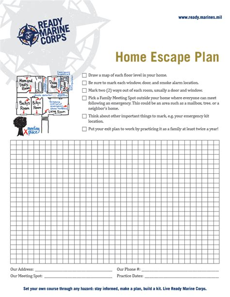 home fire escape plan making a family emergency plan