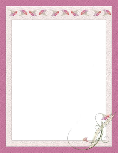 summer stationery printable summer time stationery themes page 2