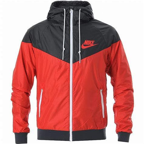 nike windbreaker nike windrunner hoody jacket red black white windbreaker