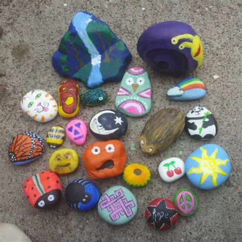 Painted Garden Rocks Painted Rock Garden Markers Painted Rocks For Garden
