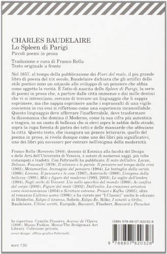 spleen baudelaire testo libro lo spleen di parigi testo francese a fronte di