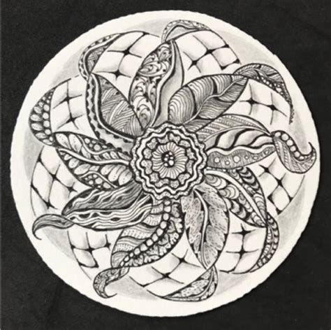 zentangle pattern enyshou zentangle 174 zendala twirling leaves volcano art center