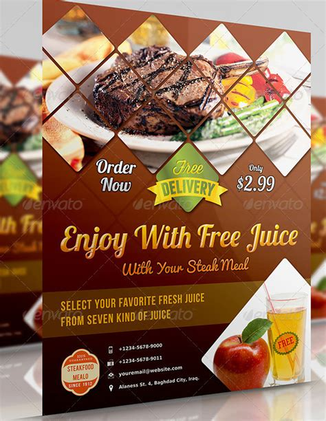 Flyers Design Templates For Restaurant | restaurant flyer templates 65 free word pdf psd eps