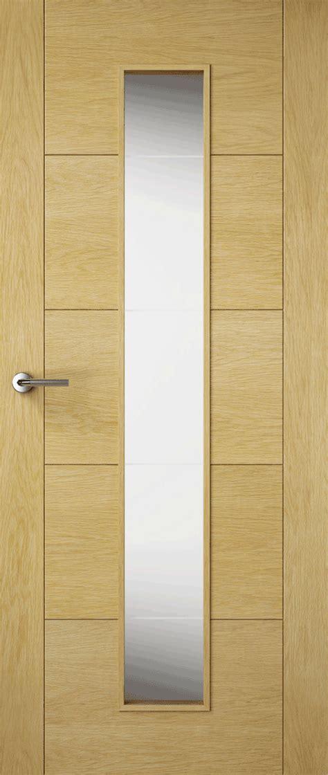 Contemporary Interior Doors Uk Premdor Contemporary Oak Solid Glazed Doors