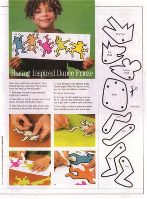 keith haring figure templates keith haring inspired lesson projects pop