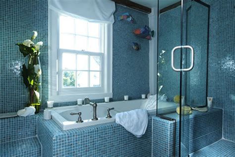 Blue Bathrooms | 40 vintage blue bathroom tiles ideas and pictures