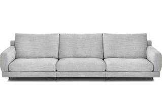 standard seat depth elle 3 seat standard depth sofa hivemodern com