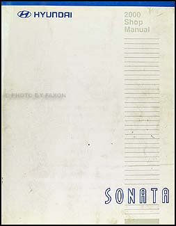 2000 hyundai sonata shop manual original repair service book gls ebay