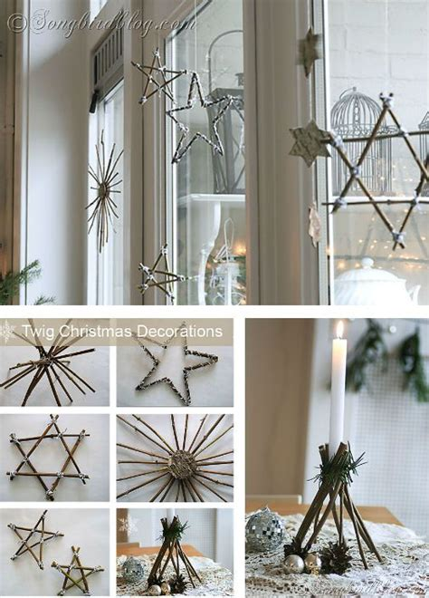 diy twig christmas decorations christmas winter pinterest
