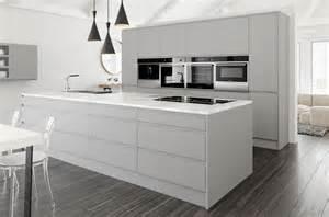 Crown pinova satin matt finish handless kitchens