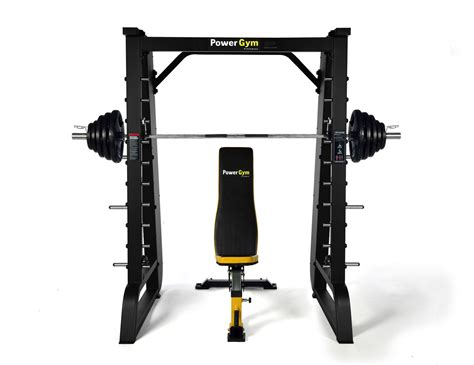 olympic bench squat rack new powergym commercial olympic smith machine squat rack bench press gym fitness