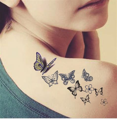 small water tattoos butterfly back fresh water transfer