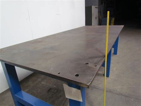 2 plate bench steel plate weld work bench 1 quot thick top 48 1 2 quot x120 1 2