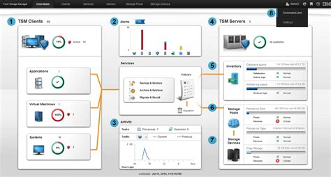 daily monitoring from the ibm tivoli storage manager