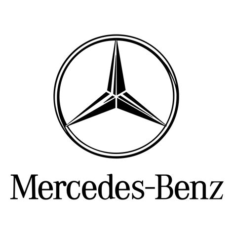 mercedes logo black and white mercedes logo png transparent svg vector freebie