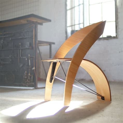 counterpose plywood chair by kaptura de aer made in