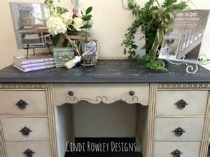 Desk Painting Ideas Chalk Paint 174 Stenciled And Wax Grey Design Color And Wax