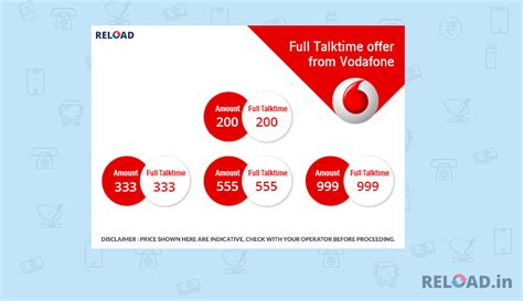 vodafone mobile offer vodafone talktime recharge offers sms packs