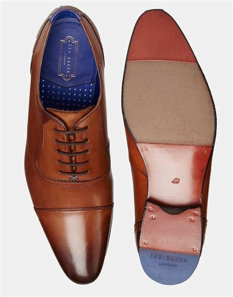 ted baker oxford shoes ted baker rogrr oxford shoes in brown for lyst