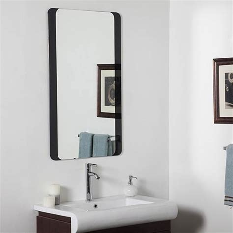 Frameless Bathroom Mirror Large Rectangular Large Frameless Bathroom Mirror Decor