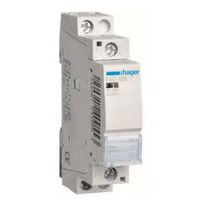 hager esc125 contactor 240v 1 pole 25amp hager electrical