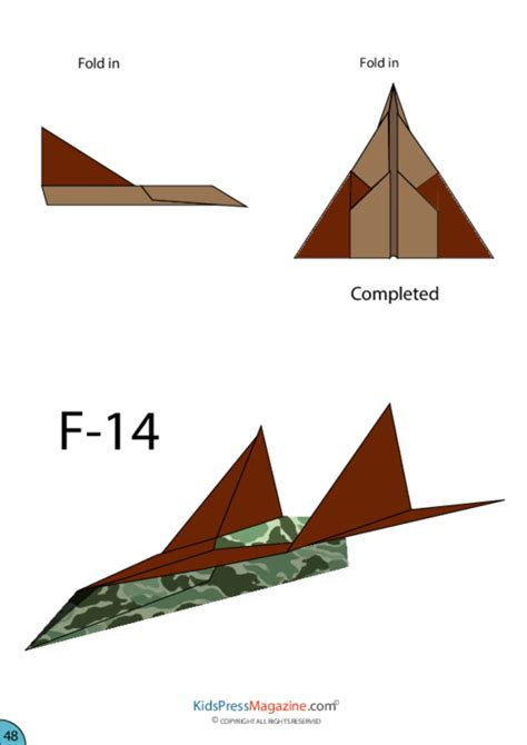 How To Make An Advanced Paper Airplane - paper airplane f 14 kidspressmagazine