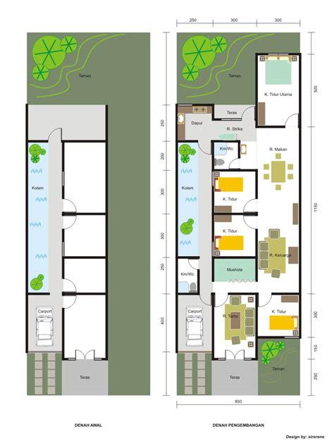 desain rumah minimalis type 21 house design denah rumah minimalis 1 lantai 3 kamar tidur