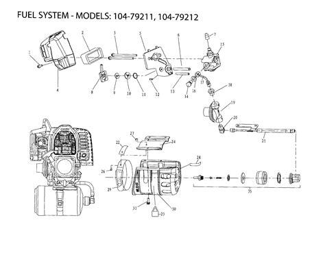 wacker fuel line diagram fuel system diagram parts list for model 10479211