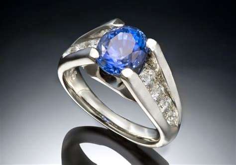blue sapphire white gold ring skylight jewelers