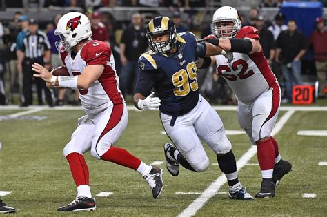 st louis rams standing with aaron donald defensive rookie of the year