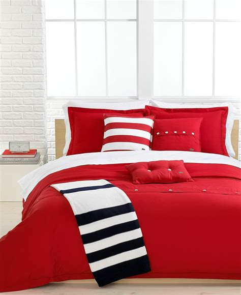 solid red comforter lacoste solid roccoco red brushed twill comforter and
