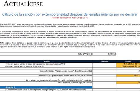 obligacion declarantes renta 2016 obligacion de declarar renta 2016
