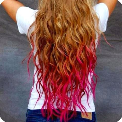diy beauty from brown hair to bright red hair easy steps pink kool aid hair next time i dip dye i m doing bright