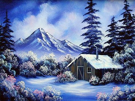 bob ross painting log cabins 361 best bob ross painting images on bob