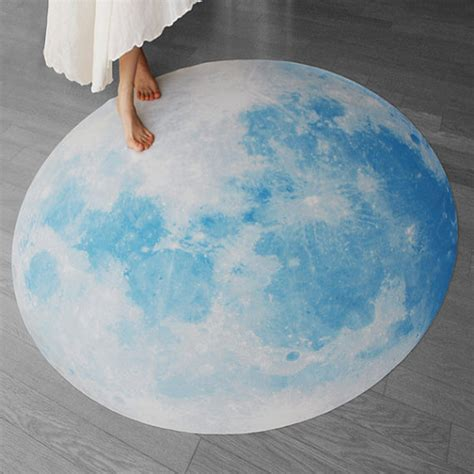 Moon Rug by Moon Picnic Mat Blue Moon Waltz Interior Rug