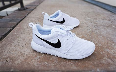 all white womens nike running shoes womens custom nike roshe run sneakers minimalistic black