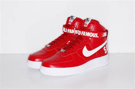 supreme nike air 1 supreme announces release information for nike air 1
