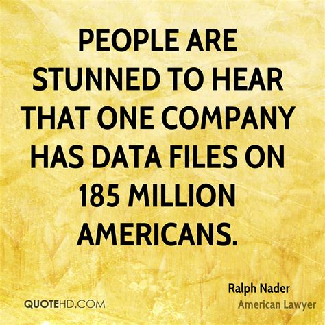 Lawyer Files For To Be Heard In Federal Court by Ralph Nader Technology Quotes Quotehd
