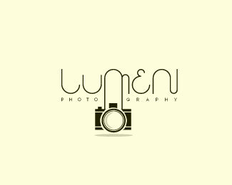 16 photography logo that features a camera shape