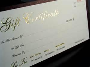 custom business gift cards custom gift certificates blank gift certificates print gift certificates