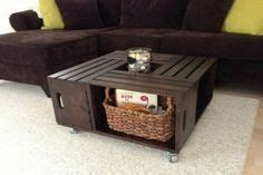 milk crate coffee table woodwork