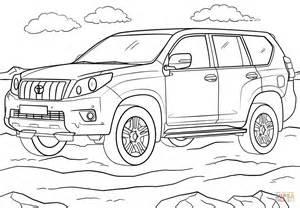 cars land coloring pages toyota land cruiser prado coloring page free printable