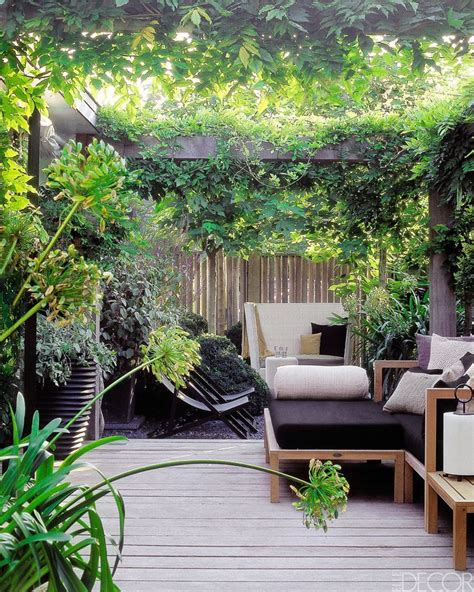 secluded backyard ideas 6 cosy gardens contemporary concrete planters and