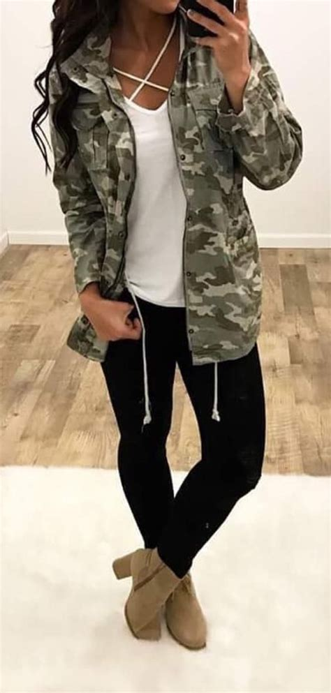 pinterest fashion women women dress for fall winter women s camo cargo jacket outfits pinterest camo