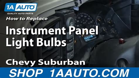 replace instrument panel light bulbs   chevy