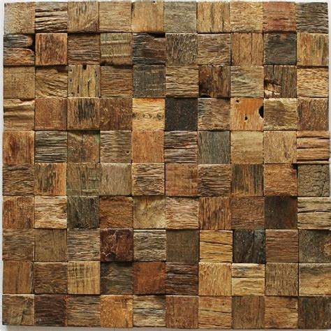 wood mosaic tile rustic wood wall tiles nwmt002