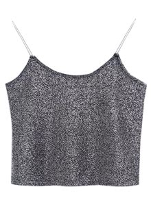 Glitter Cropped Cami Top Wine glitter cropped cami top gray tank tops one size zaful