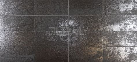 fliese metallic rustic iron metallic subway porcelain tile available in